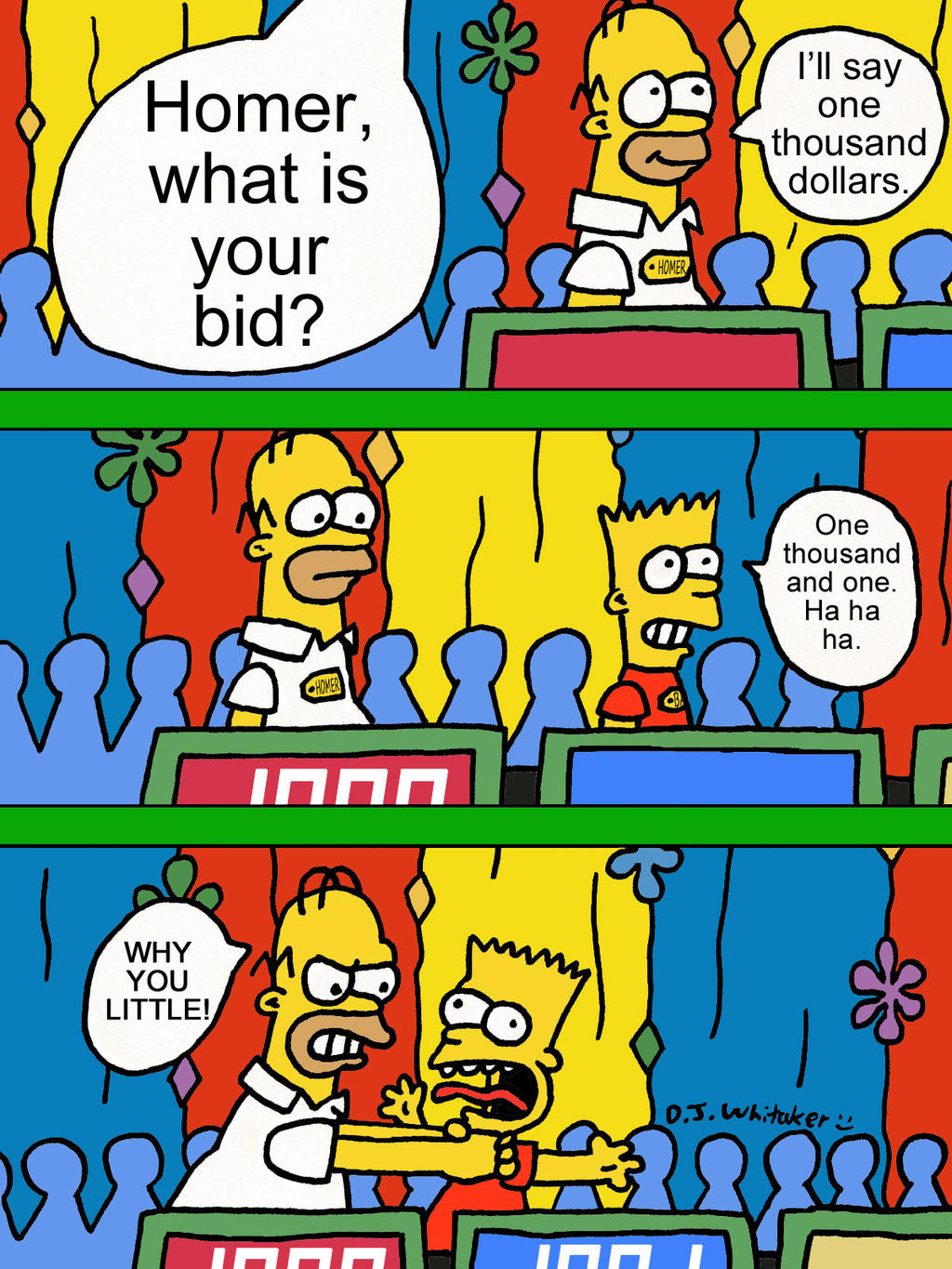 Simpsons on the price is right revisited by djgames on - Djgames deviantart ...