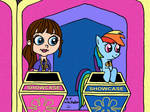 Blythe and Rainbow Dash in the Showcase