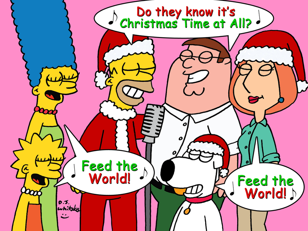Simpsons and Griffins singing Christmas Time by DJgames