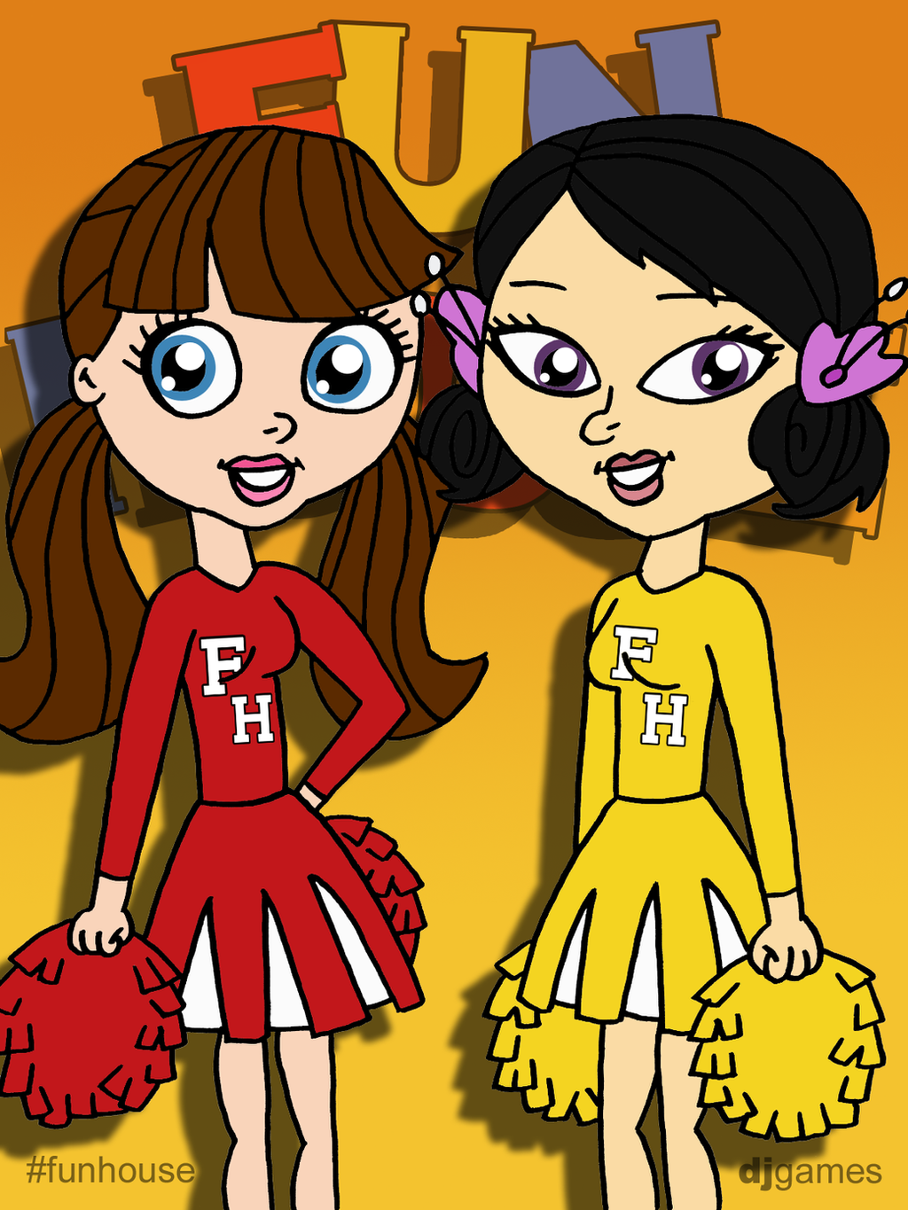 Blythe and youngmee fun house cheerleaders by djgames on - Djgames deviantart ...