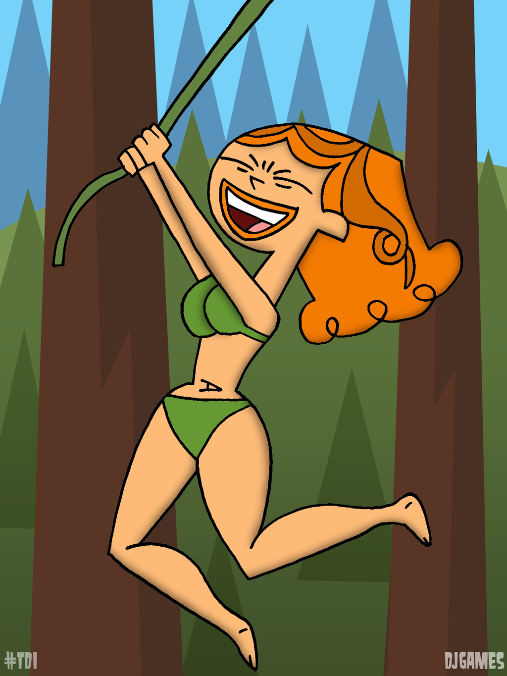 naked izzy from total drama island