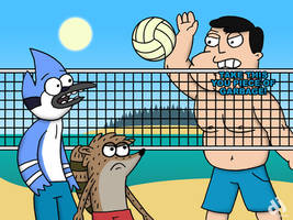 Stan vs Regular Show Volleyball (Request) by DJgames