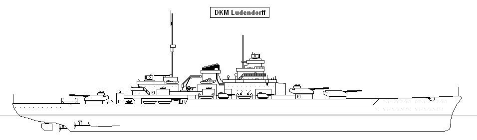 German Battleship Ludendorff by Dawley