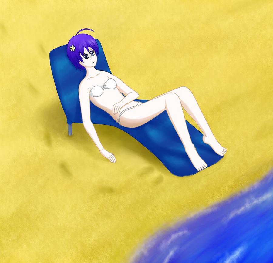 Tania on the Beach by Dumdodoor