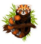 Mecha Red Panda - button