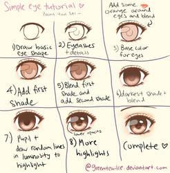 SAI simple eye tutorial by Astrea-Lin
