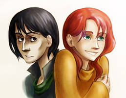 snape and lily by nastiko