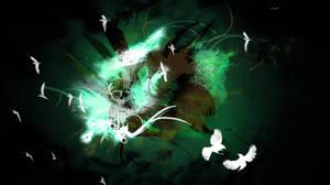 Green Grunge Wallpaper by Miziyaki