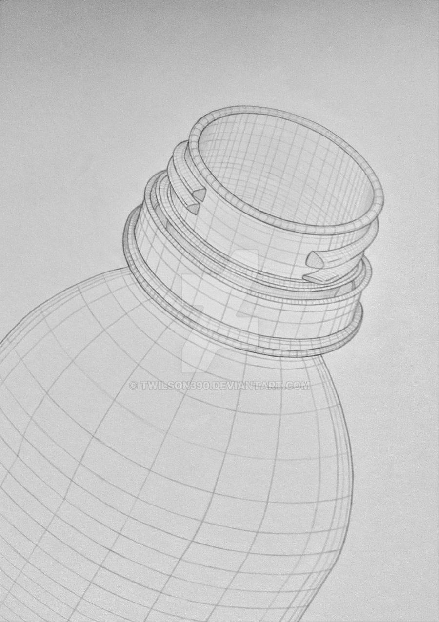 Cross Contour Line Drawing Fruit : Bottle cross contour by twilson on deviantart
