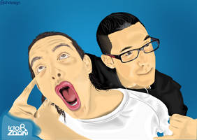 Ido B and Zooki by AHDesigner