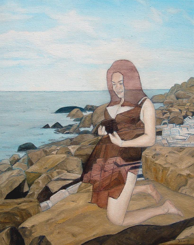 Girl on the Rocks in Zhuhai