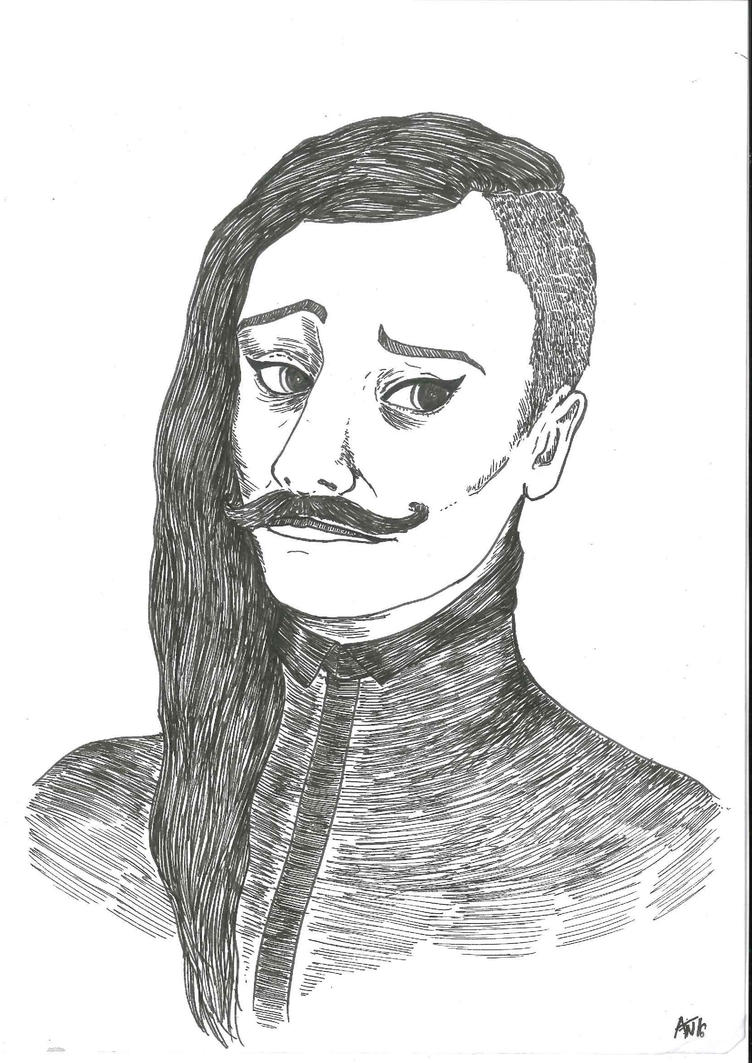 Selfportrait - moustache by nebozka
