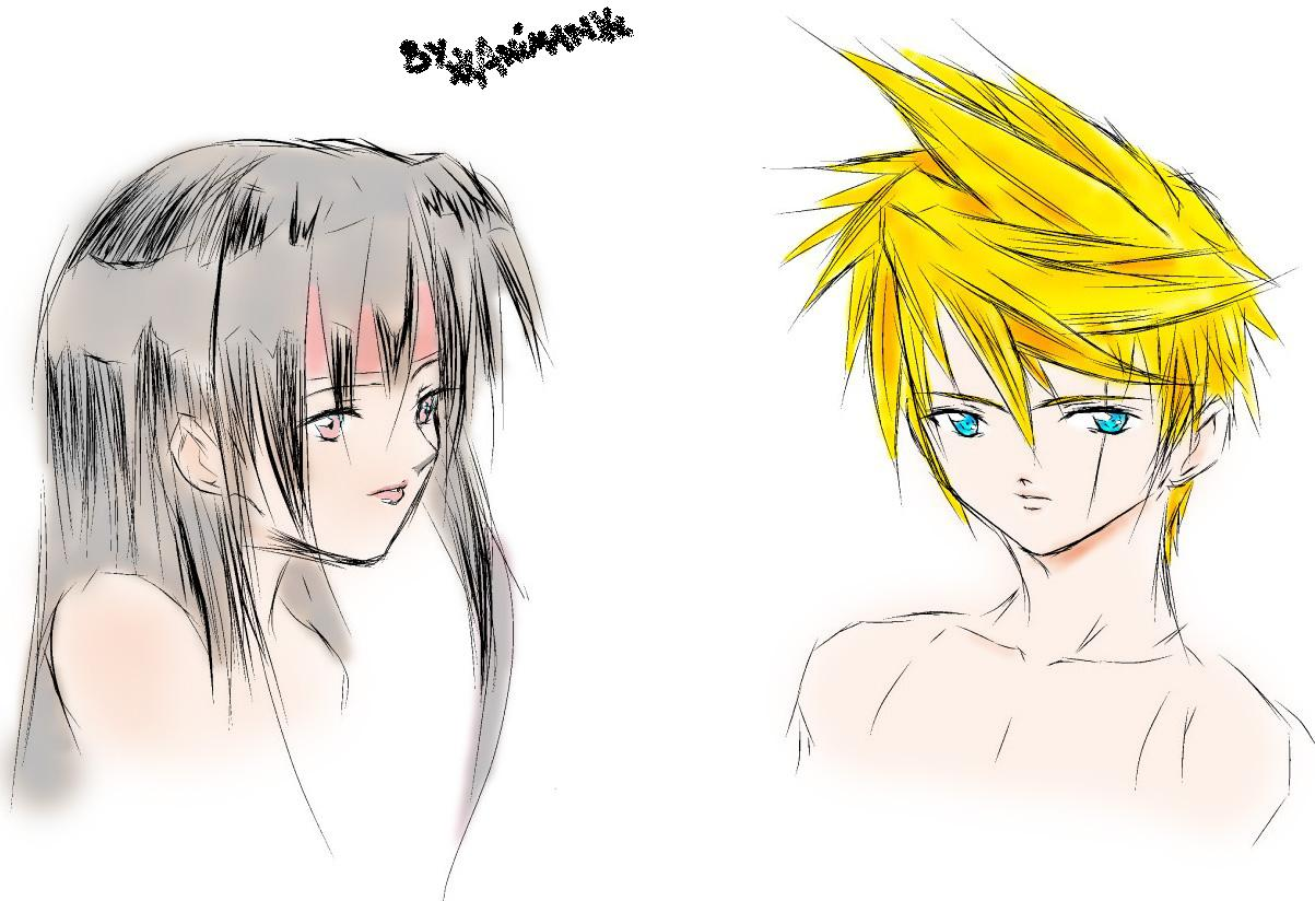 Cloud and Tifa (New Hairstyles) by xXAnimanXx