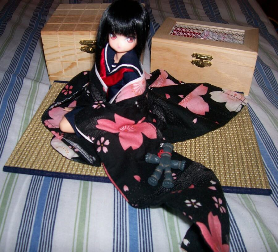 Enma Ai with Kimono by Lsayaku