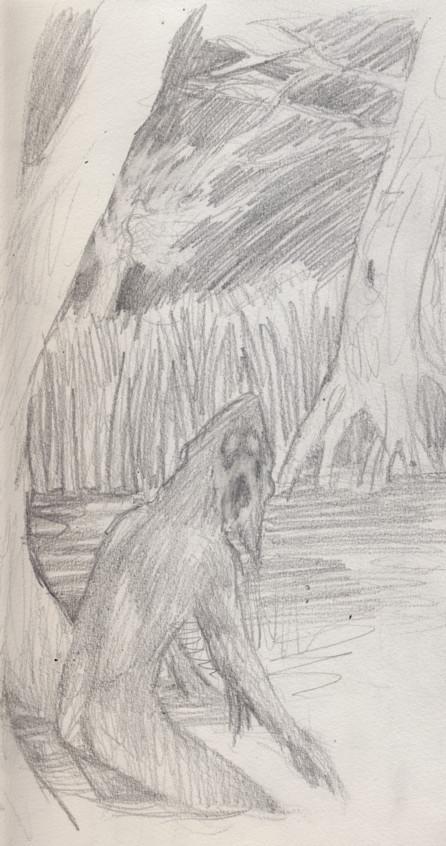 skogmonster by deWitteillustration