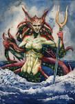 Thassa, God of the Sea by deWitteillustration