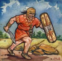 Celtiberian warrior by deWitteillustration
