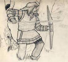 Gaul hunting heads by deWitteillustration