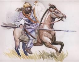 Scythian cavalry by deWitteillustration