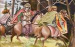 Arminius and Inguiomer flee Idistaviso