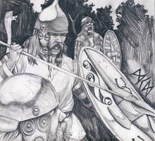 Echoes of Battle (La Tene Warriors) by deWitteillustration