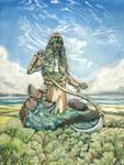 Karametra, God of Harvests by deWitteillustration