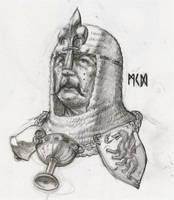 Paladin of Bretonnia by deWitteillustration