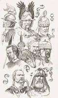 Stonemen chief portraits by deWitteillustration