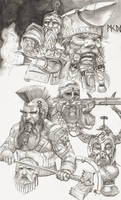 WH Dwarfs by deWitteillustration