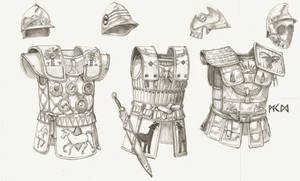 Sangite helmets and cuirasses by deWitteillustration