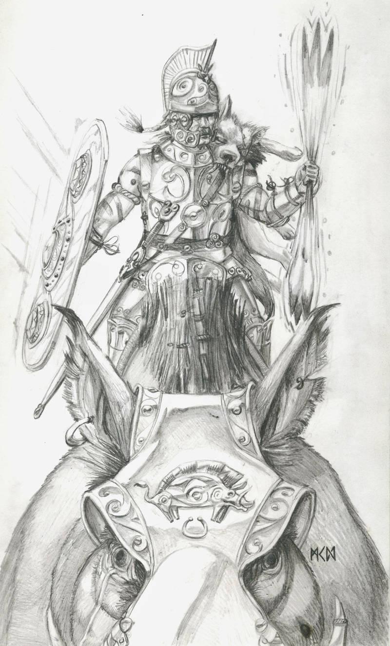 Warhammer Albion - Vaiorix of the Boreni by deWitteillustration