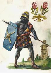 Ozhite infantry by deWitteillustration