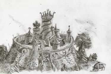 Warhammer Albion - small hillfort by deWitteillustration