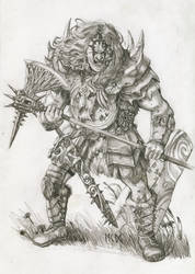 Warhammer Albion - Alfrithr, the Red by deWitteillustration