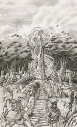 Warhammer Albion - Pillar of Og Agog by deWitteillustration