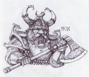 Warhammer Dwarf noble by deWitteillustration