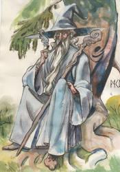 Gandalf sketch by deWitteillustration