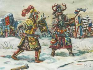 Warlords duel in Herigaturi