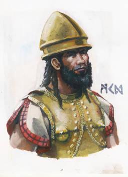 Etruscan soldier bust
