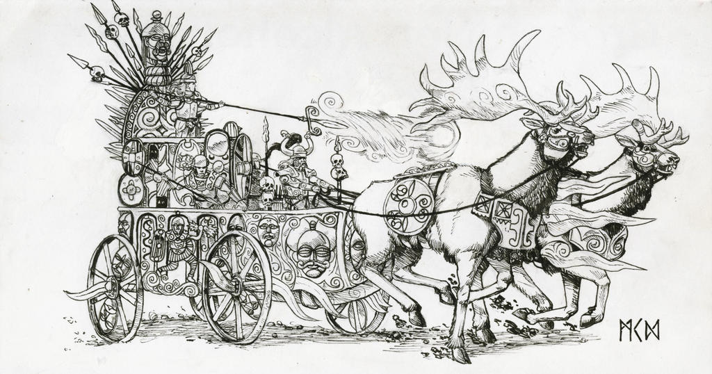 Chief Vaia aboard her chariot