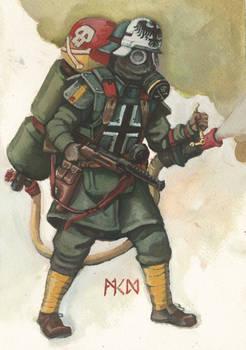 Trenchpunk German Empire gas trooper