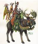 WHFB Wood Elf Moose Wild RIder
