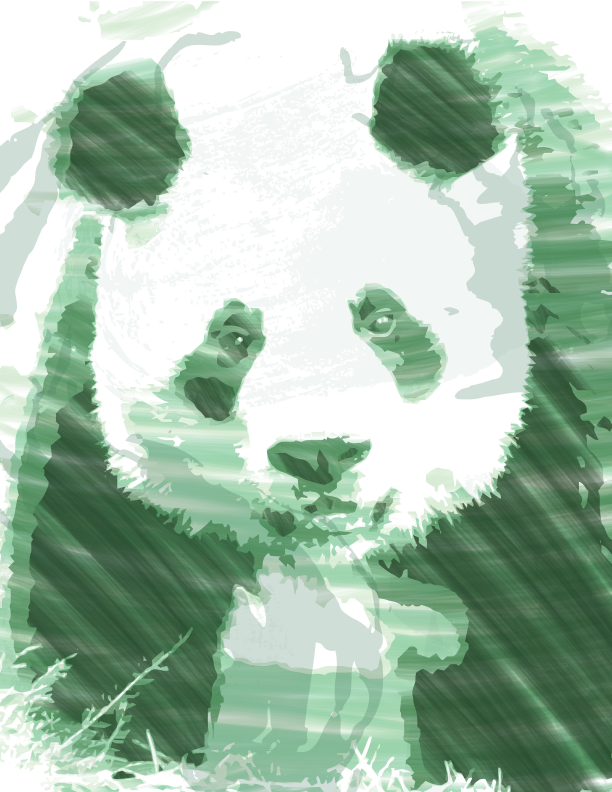 Grunge Panda Design by ClaireSable
