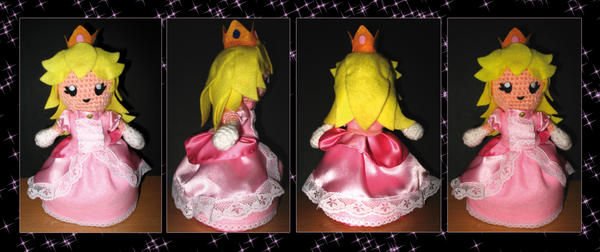 Finally finished my Princess Peach Blanket! : crochet | 252x600
