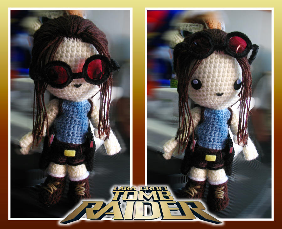Lara Croft Amigurumi by Eriamyv
