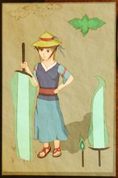 Tisane (Touhou OC Concept Art) by Krichotomy