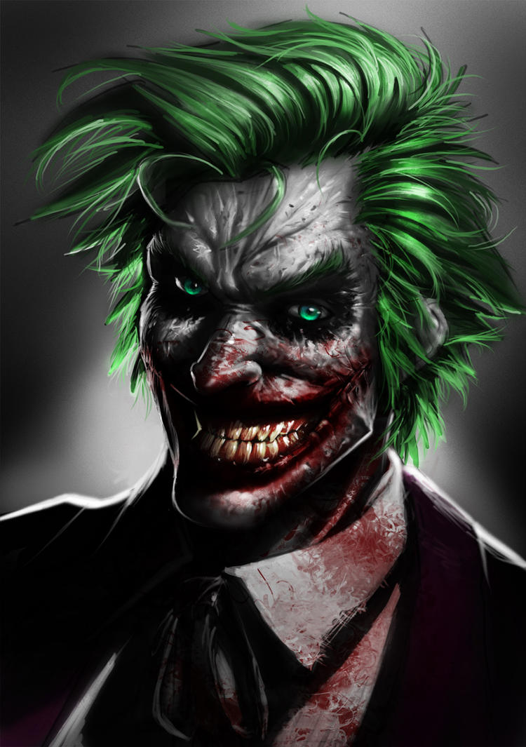 Joker Bloody by orochi-spawn