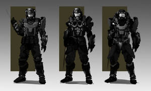 WIP : Light assault unit :humans by orochi-spawn