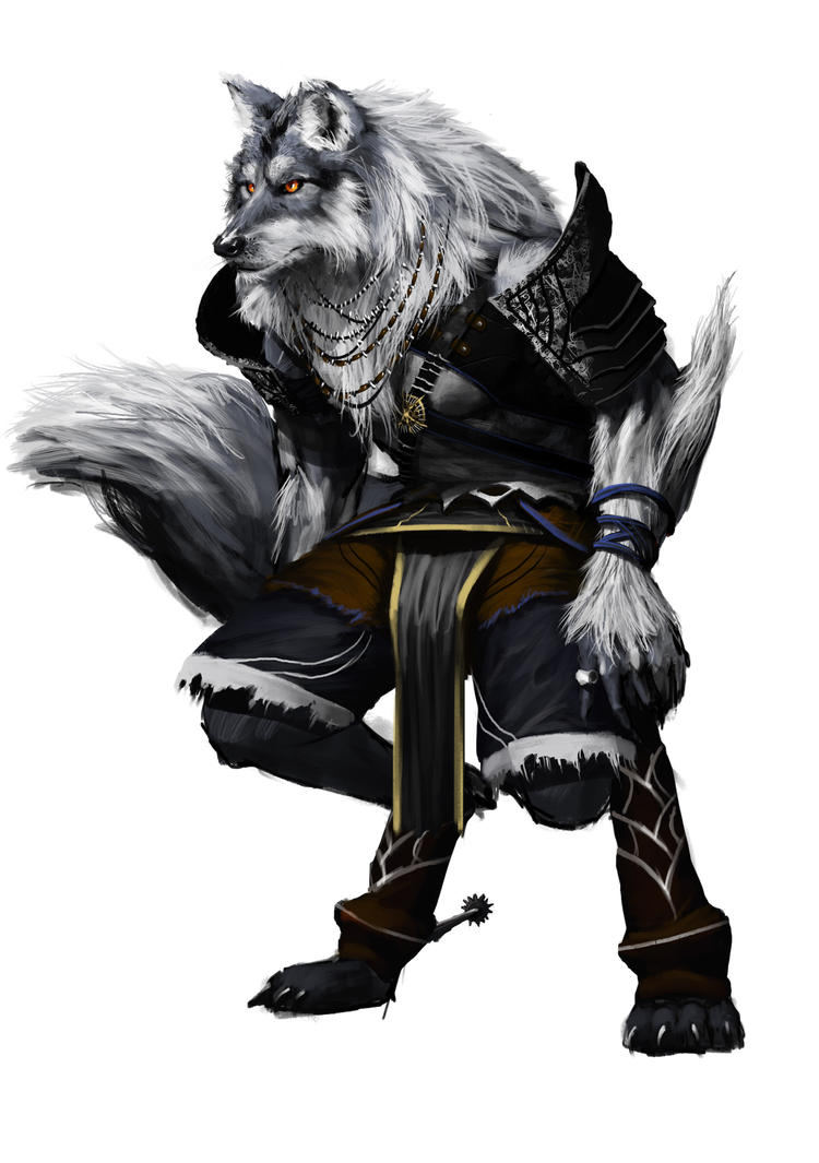 warrior resting with wolf - photo #28