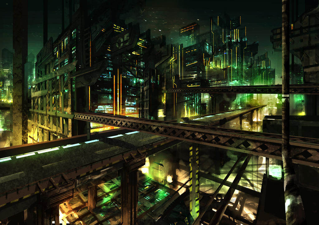 speedpaint industrial city by - photo #19